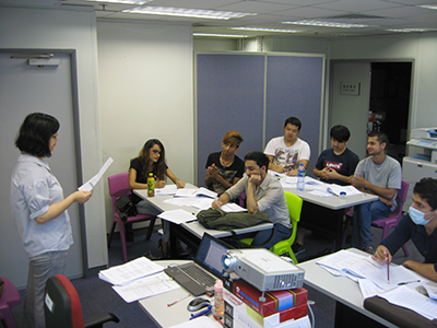 During the on-the-job training period, LD arranges language workshops for the Ambassadors on vocational Cantonese for improving their language and communication skills.